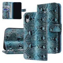 UNIQ Accessory Apple iPhone XR Black and Green Snakeskin Book type case