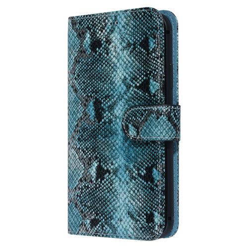 UNIQ Accessory UNIQ Accessory iPhone XR Noir et Vert Peau de serpent Book type housse
