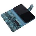 UNIQ Accessory UNIQ Accessory Apple iPhone XR Black and Green Snakeskin Book type case