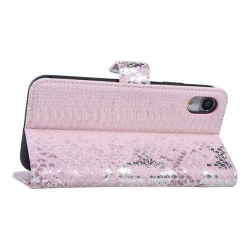 UNIQ Accessory UNIQ Accessory Apple iPhone XR Pink Snakeskin Book type case