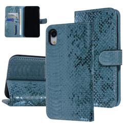 UNIQ Accessory iPhone XR Groen Slangenleer Booktype hoesje