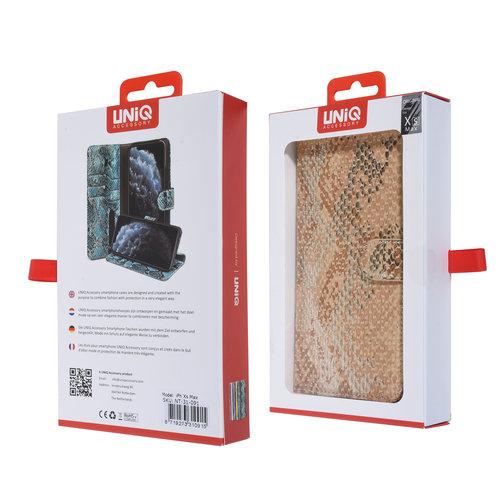 UNIQ Accessory UNIQ Accessory iPhone Xs Max Or Peau de serpent Book type housse