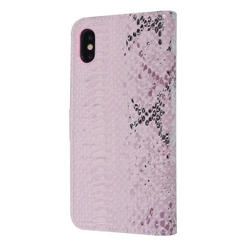UNIQ Accessory UNIQ Accessory Apple iPhone Xs Max Pink Snakeskin Book type case