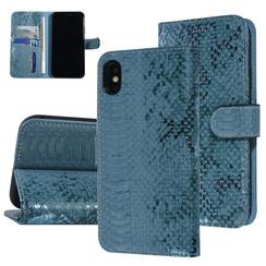 UNIQ Accessory iPhone Xs Max Groen Slangenleer Booktype hoesje