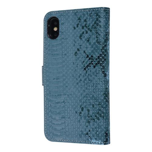 UNIQ Accessory UNIQ Accessory Apple iPhone Xs Max Green Snakeskin Book type case