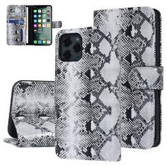 UNIQ Accessory iPhone 11 Pro Zwart en Wit Slangenleer Booktype hoesje