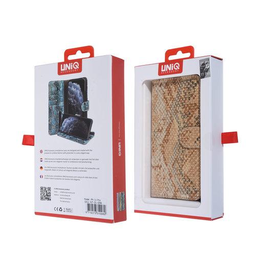 UNIQ Accessory UNIQ Accessory iPhone 11 Pro Or Peau de serpent Book type housse