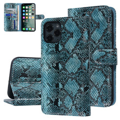 UNIQ Accessory Apple iPhone 11 Pro Black and Green Snakeskin Book type case