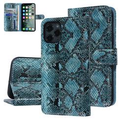 UNIQ Accessory iPhone 11 Pro Zwart en Groen Slangenleer Booktype hoesje