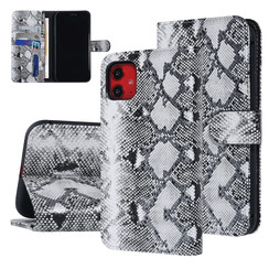 UNIQ Accessory iPhone 11 Zwart en Wit Slangenleer Booktype hoesje
