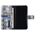 UNIQ Accessory UNIQ Accessory iPhone 11 Noir et Blanc Peau de serpent Book type housse