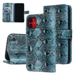 UNIQ Accessory iPhone 11 Zwart en Groen Slangenleer Booktype hoesje
