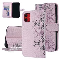 UNIQ Accessory iPhone 11 Roze Slangenleer Booktype hoesje
