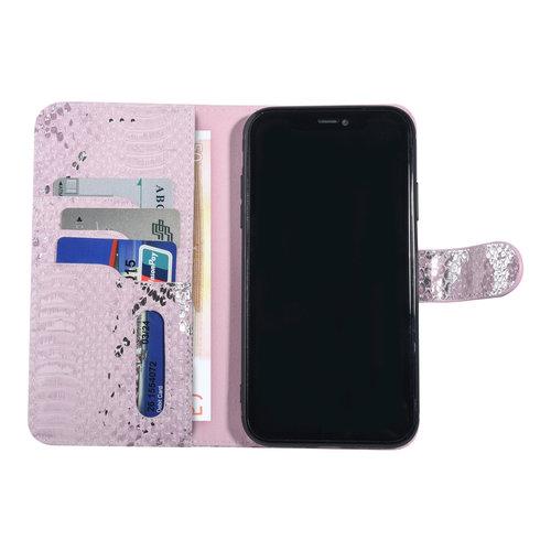 UNIQ Accessory UNIQ Accessory iPhone 11 Roze Slangenleer Booktype hoesje