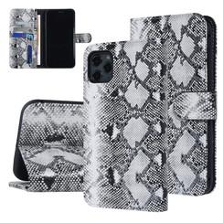UNIQ Accessory iPhone 11 Pro Max Zwart en Wit Slangenleer Booktype hoesje