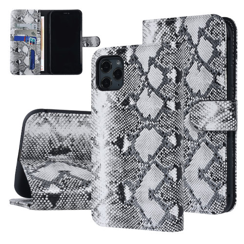 UNIQ Accessory UNIQ Accessory Apple iPhone 11 Pro Max Black and White Snakeskin Book type case