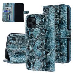UNIQ Accessory iPhone 11 Pro Max Zwart en Groen Slangenleer Booktype hoesje