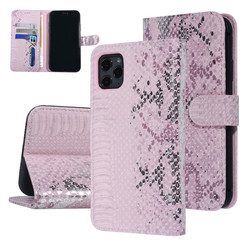 UNIQ Accessory iPhone 11 Pro Max Roze Slangenleer Booktype hoesje