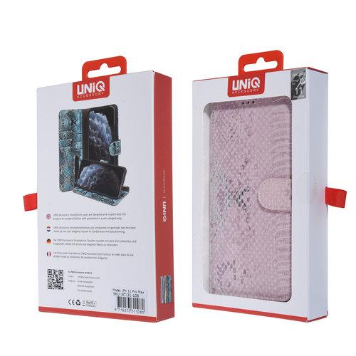 UNIQ Accessory UNIQ Accessory iPhone 11 Pro Max Rose Peau de serpent Book type housse
