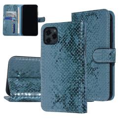 UNIQ Accessory iPhone 11 Pro Max Groen Slangenleer Booktype hoesje