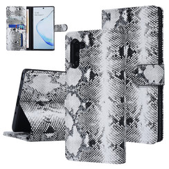UNIQ Accessory Samsung Galaxy Note 10 Black and White Snakeskin Book type case