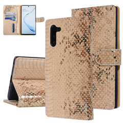 UNIQ Accessory Galaxy Note 10 Or Peau de serpent Book type housse