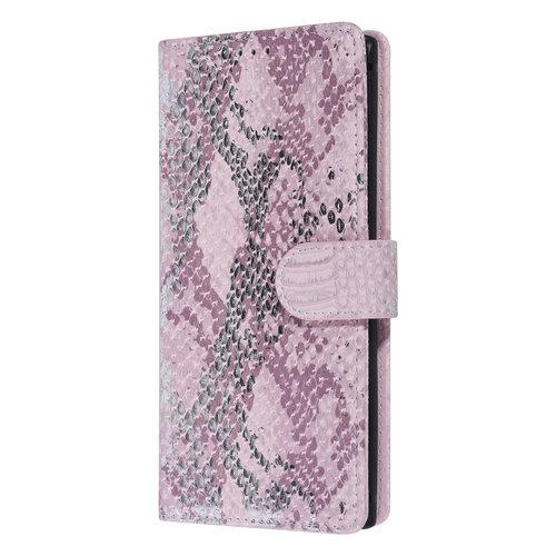 UNIQ Accessory UNIQ Accessory Galaxy Note 10 Roze Slangenleer Booktype hoesje