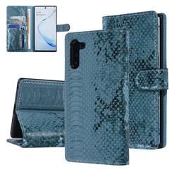 UNIQ Accessory Galaxy Note 10 Groen Slangenleer Booktype hoesje