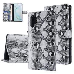 UNIQ Accessory Galaxy Note 10 Plus Noir et Blanc Peau de serpent Book type housse