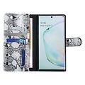UNIQ Accessory UNIQ Accessory Samsung Galaxy Note 10 Plus Black and White Snakeskin Book type case