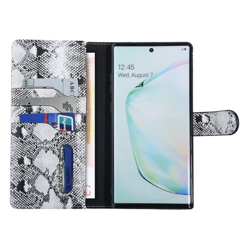 UNIQ Accessory UNIQ Accessory Galaxy Note 10 Plus Noir et Blanc Peau de serpent Book type housse