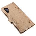 UNIQ Accessory UNIQ Accessory Galaxy Note 10 Plus Goud Slangenleer Booktype hoesje