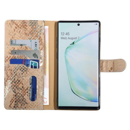 UNIQ Accessory UNIQ Accessory Samsung Galaxy Note 10 Plus Gold Snakeskin Book type case