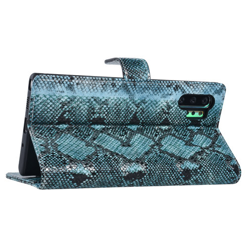 UNIQ Accessory UNIQ Accessory Galaxy Note 10 Plus Zwart en Groen Slangenleer Booktype hoesje