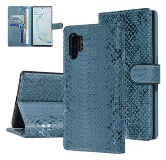 UNIQ Accessory Galaxy Note 10 Plus Groen Slangenleer Booktype hoesje