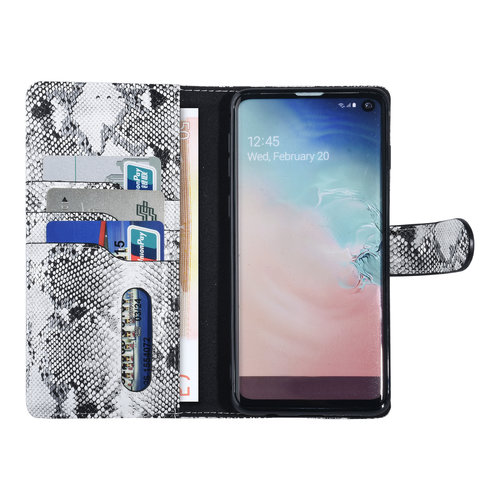UNIQ Accessory UNIQ Accessory Samsung Galaxy S10 Black and White Snakeskin Book type case