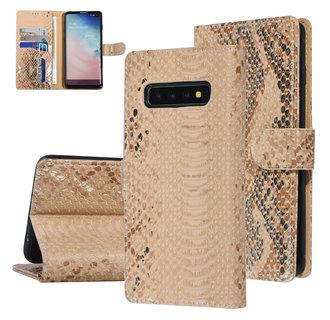 UNIQ Accessory Samsung Galaxy S10 Gold Snakeskin Book type case