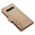 UNIQ Accessory UNIQ Accessory Samsung Galaxy S10 Gold Snakeskin Book type case