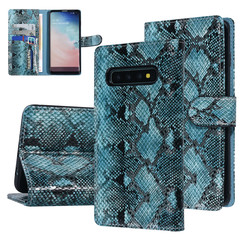 UNIQ Accessory Samsung Galaxy S10 Black and Green Snakeskin Book type case