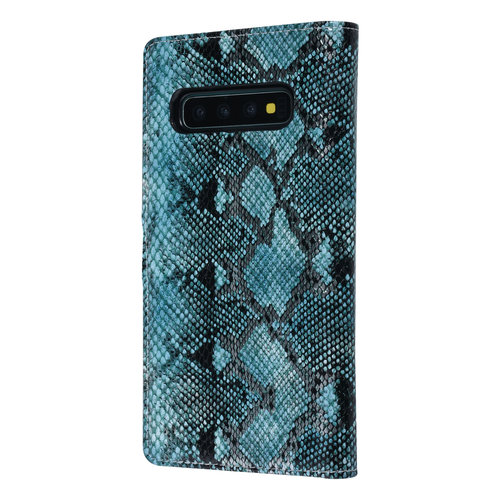 UNIQ Accessory UNIQ Accessory Galaxy S10 Noir et Vert Peau de serpent Book type housse