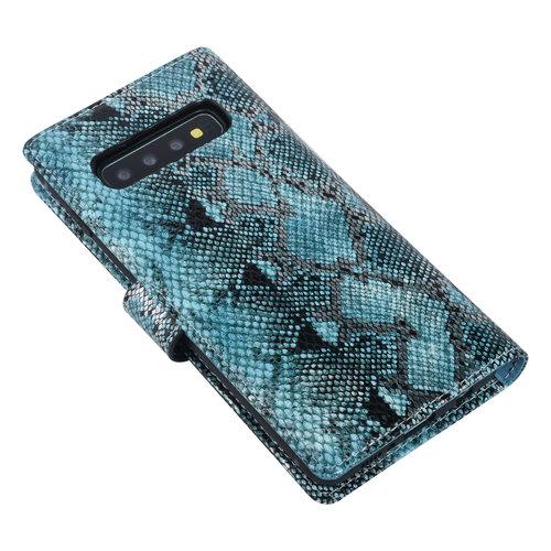 UNIQ Accessory UNIQ Accessory Samsung Galaxy S10 Black and Green Snakeskin Book type case