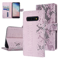 UNIQ Accessory Samsung Galaxy S10 Pink Snakeskin Book type case