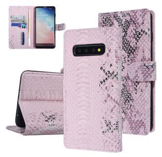 UNIQ Accessory Samsung Galaxy S10 Pink Snakeskin Book type case