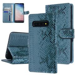 UNIQ Accessory Galaxy S10 Grün Schlangenhaut Book-Case hul
