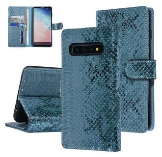 UNIQ Accessory Samsung Galaxy S10 Green Snakeskin Book type case