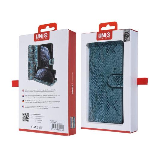 UNIQ Accessory UNIQ Accessory Galaxy S10 Vert Peau de serpent Book type housse