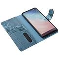 UNIQ Accessory UNIQ Accessory Galaxy S10 Groen Slangenleer Booktype hoesje