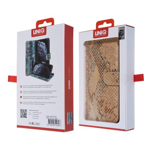 UNIQ Accessory UNIQ Accessory Galaxy S10 Plus Or Peau de serpent Book type housse