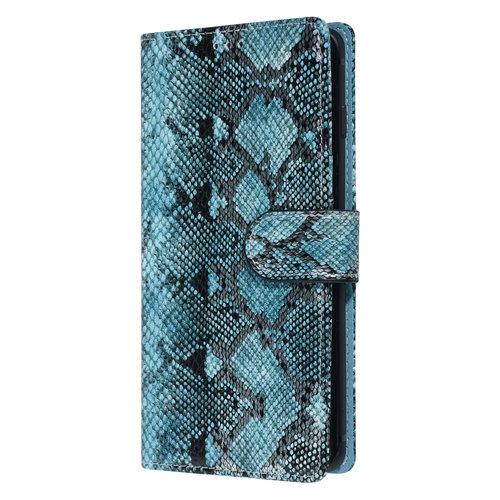 UNIQ Accessory UNIQ Accessory Galaxy S10 Plus Noir et Vert Peau de serpent Book type housse