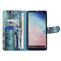UNIQ Accessory UNIQ Accessory Samsung Galaxy S10 Plus Black and Green Snakeskin Book type case